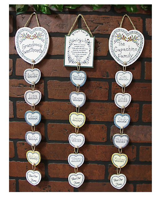 Family heart banner family heart plaque our famiy heart plaque our family hearts